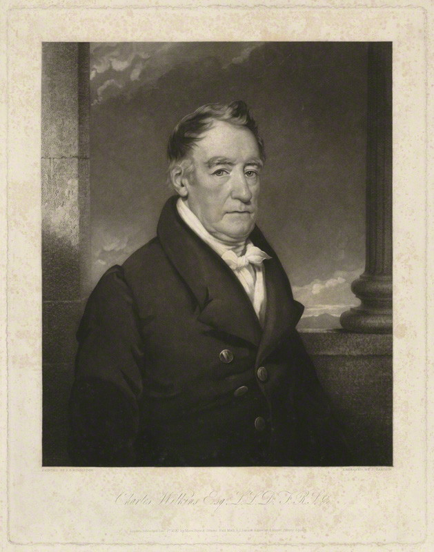 NPG D7848; Sir Charles Wilkins by John Sartain, published by  Moon, Boys & Graves, after  James Godsell Middleton